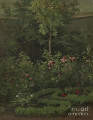 A Rose Garden Print by Camille Pissarro