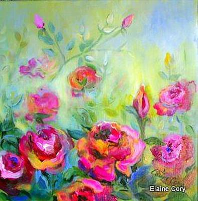 Painting - A Rose Garden by Elaine Cory