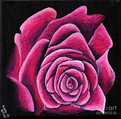 Painting - A Rose In Time by Kasia Bitner