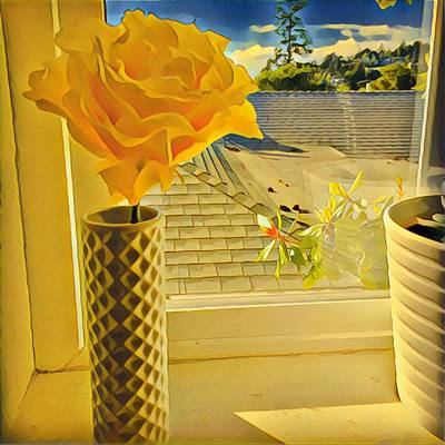 A Rose Is A Rose Electric Art Print