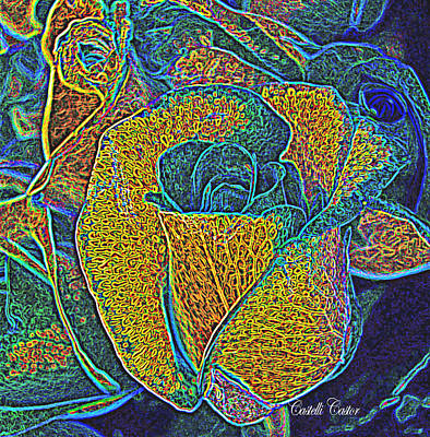 Digital Art - A Rose Is A Rose by JoAnne Castelli-Castor