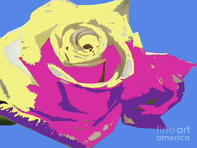 Digital Art - A Rose Is A Rose by Karen Nicholson