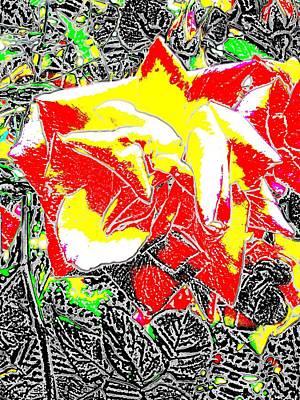 Digital Art - A Rose Is by Tim Allen