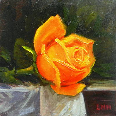 Painting - A Rose by Ningning Li