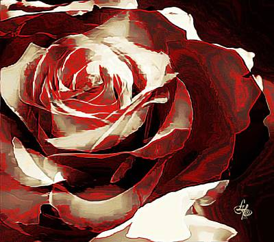Digital Art - A Rose Of Love by Lynda Payton