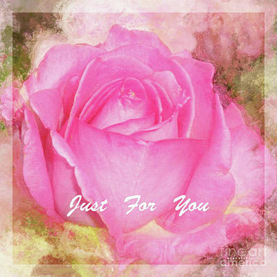 Rosaceae Mixed Media - A Rose Pastel Soft Sorbet 5 by Mona Stut
