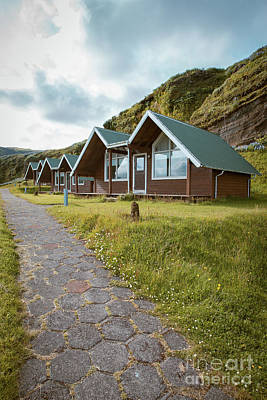 A Row Of Cabins In Iceland Art Print