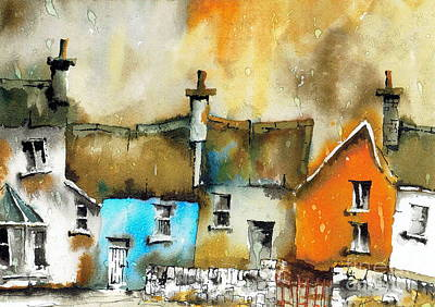 Painting - A Row Of Colour by Val Byrne