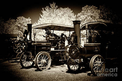 Photograph - a row of Old Steam by Paul W Faust - Impressions of Light