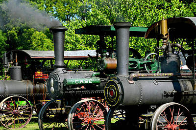 Steam Tractor Photograph - A Row Of Steam by Paul W Faust - Impressions of Light