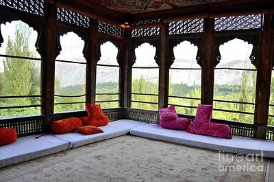 Photograph - A Royal Room Overlooking The Mountains At Khaplu Palace Gilgit Baltistan Pakistan by Imran Ahmed