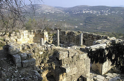 Photograph - A Ruins Of An Ancient Church Near Nablus by Isam Awad