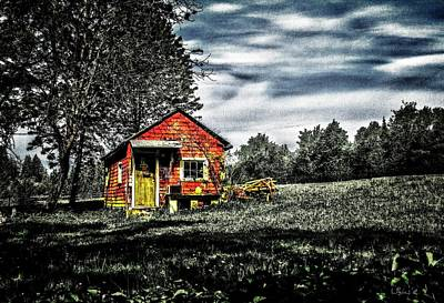 Shed Digital Art - A Ruskin Shed by Bill Linn