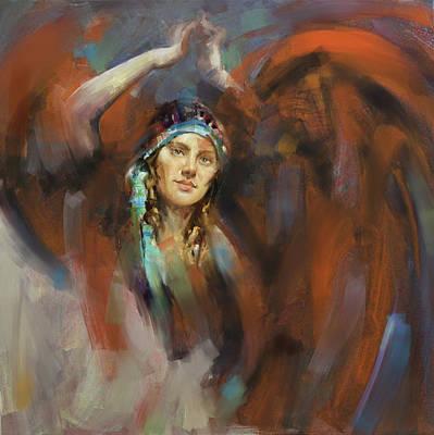 Russian Girl Wall Art - Painting - a russian dancing girl 180 II by Mawra Tahreem