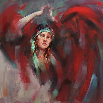 Russian Girl Wall Art - Painting - A Russian Dancing Girl by Mawra Tahreem