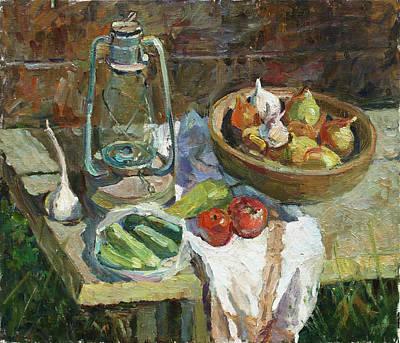Painting - A Rustic Still Life by Juliya Zhukova