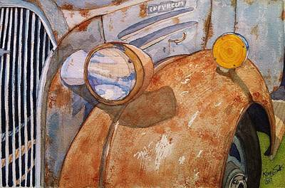 Painting - A Rusty Old Chevy by Rand Swift