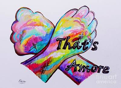 Funky Mixed Media - A S L ... That's Amore by Eloise Schneider