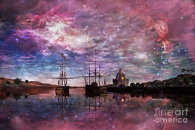 Harbour Digital Art - A Safe Anchorage by John Edwards