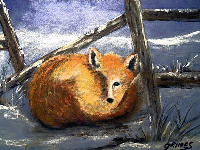 Painting - A Safe Place To Sleep by Carol Grimes