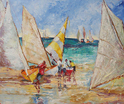 Painting - A Sail To Remember by Susan Mains