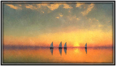Digital Art - A-sailing... by Tim Fillingim