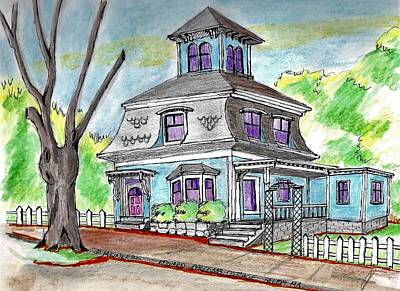 Drawing - A Salem Cottage by Paul Meinerth