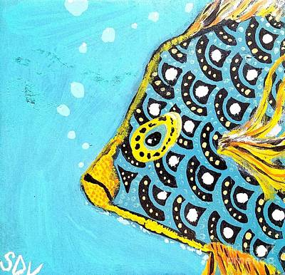 Walmart Painting - A Saltwater Fish From The Coral Reef by Scott D Van Osdol