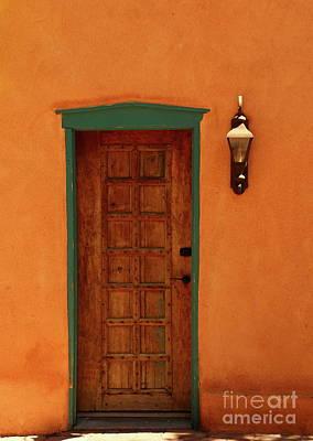 A Santa Fe Door Art Print