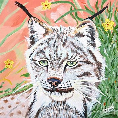 Painting - A Sassy Lynx by Phyllis Kaltenbach