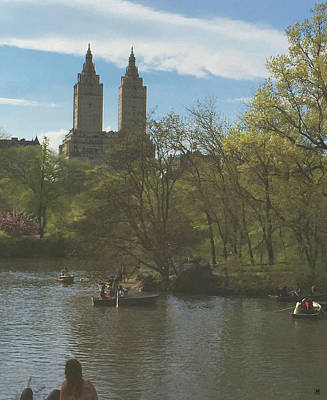 Rowing In Central Park Photograph - A Saturday In May In Central Park 2 by Muriel Levison Goodwin