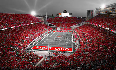 Stadiums Photograph - A Scarlet Stage by Kenneth Krolikowski