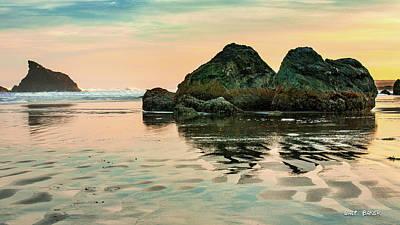 Photograph - A Scene From The Beach by Walt Baker