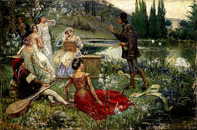 A Scene From The Decameron Art Print