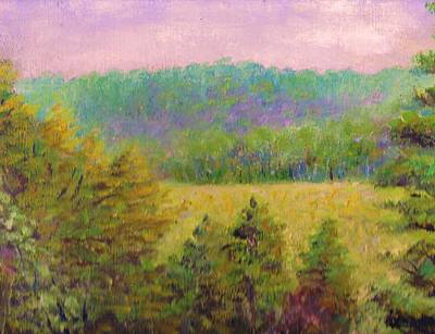 Yello Painting - A Scene From The Piedmont by Anne-Elizabeth Whiteway
