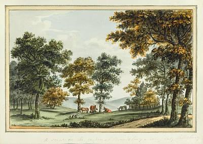 Garden Scene Painting - A Scene In The Garden At Brandsbury by MotionAge Designs