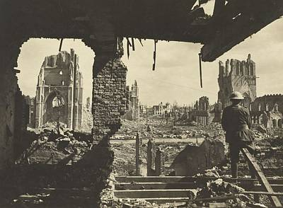 Painting - A Scene In The Ruined City Of Ypres 1917 by Celestial Images