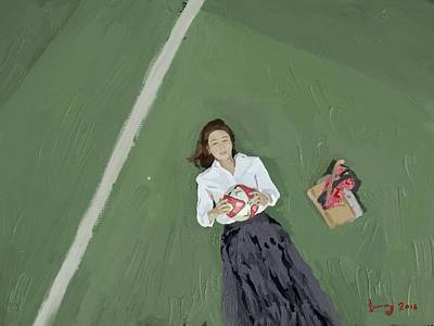 Gummy Digital Art - A Scene Of On The Way To The Airport-south Korean Television Series.  by Wanphen Jae Gummy