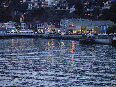 A Scenery Of Sausalito At Dusk Art Print