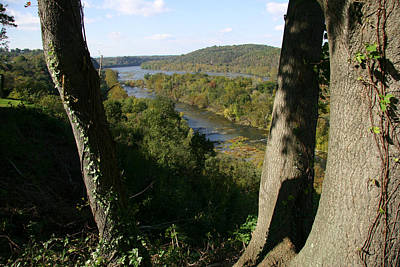 A Scenic View Of The Potomac River Print by Stephen St. John