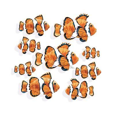 Clown Fish Digital Art - A School Of Clown Fish by Trevor Irvin
