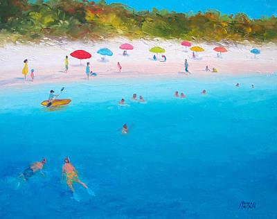 Summer Scene Painting - A Scorching Summer by Jan Matson