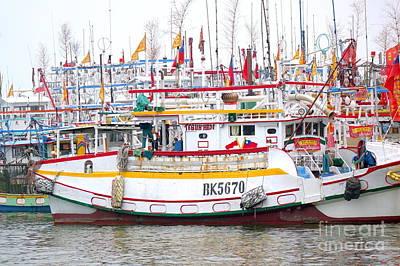 Photograph - A Sea Of Fishing Boats by Yali Shi