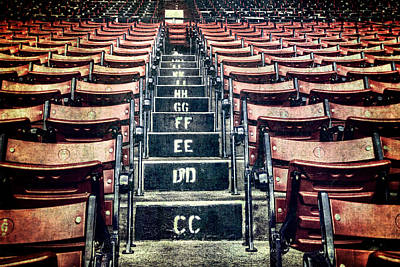Boston Red Sox Photograph - A Sea Of Red - Fenway Park Boston by Joann Vitali