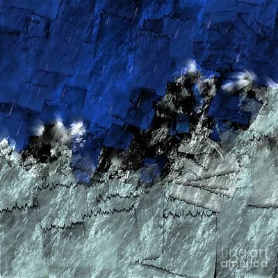 Digital Art - A Sea Storm In My Heart by Silvia Ganora