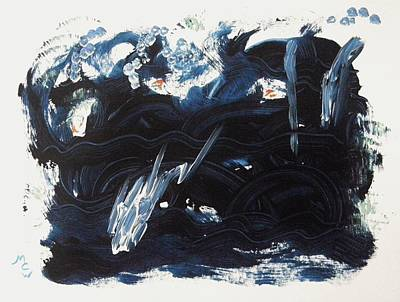 Painting - A Sea Turns Rough by Mary Carol Williams