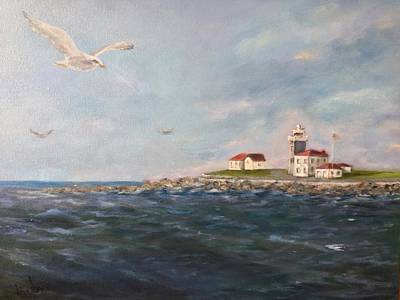 Painting - A Seagull's View by Anne Barberi