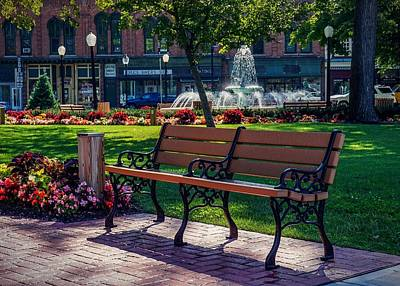 Photograph - A Seat In The Park. by Kendall McKernon