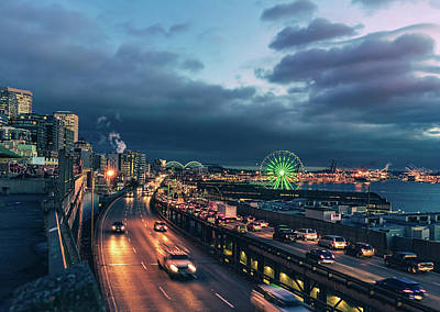 Photograph - A Seattle Evening by Nisah Cheatham