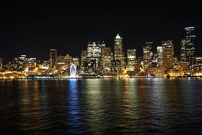 A Seattle Night Art Print